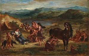 300px-Eugène_Delacroix_-_Ovide_chez_les_Scythes_(1862)