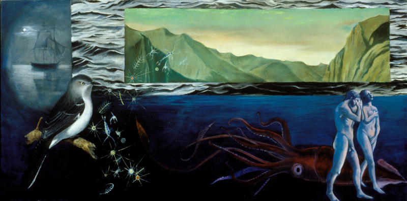 Expulsion  oil on canvas  42%22x36%22
